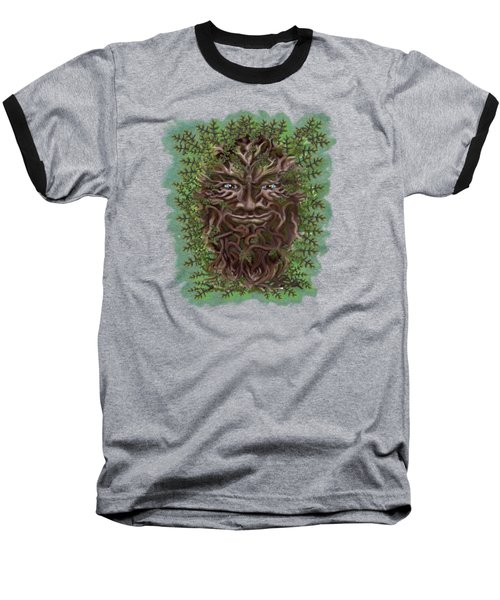 Green Man Of The Forest Baseball T-Shirt