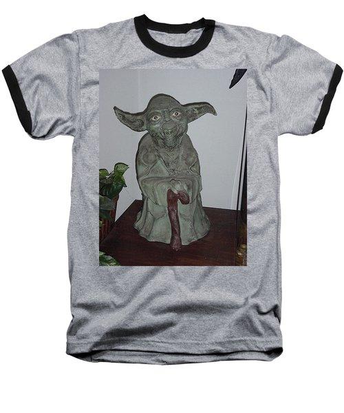 Green Man Baseball T-Shirt by Val Oconnor