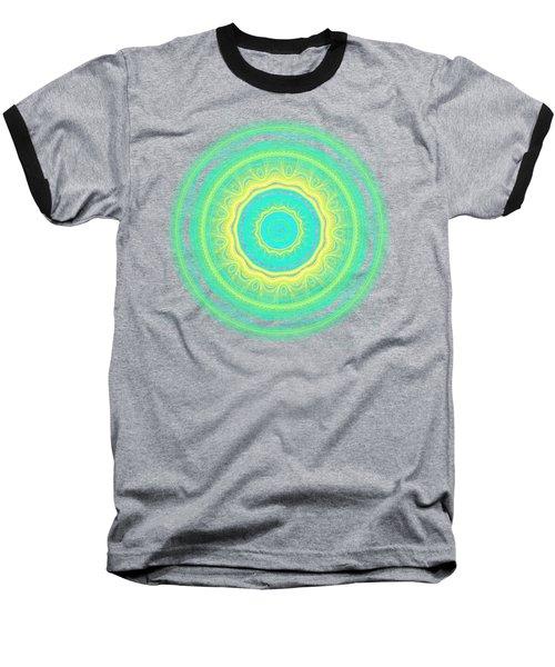 Green Mandala Baseball T-Shirt