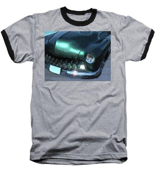 Green Mercury Custom Baseball T-Shirt