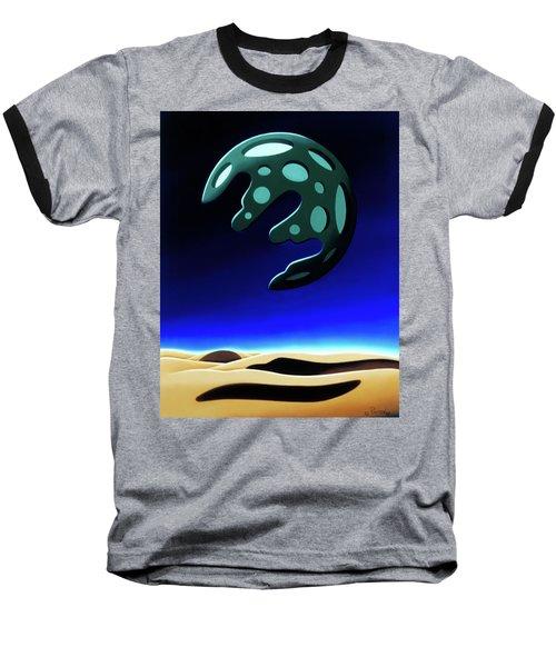 Green Moon Rising Baseball T-Shirt