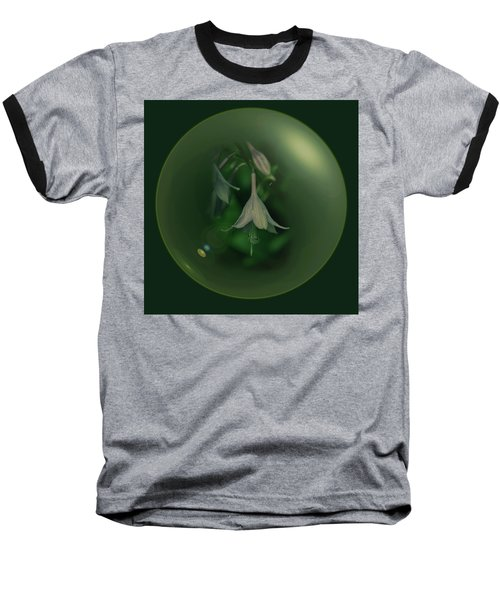 Green Orb Flower Baseball T-Shirt