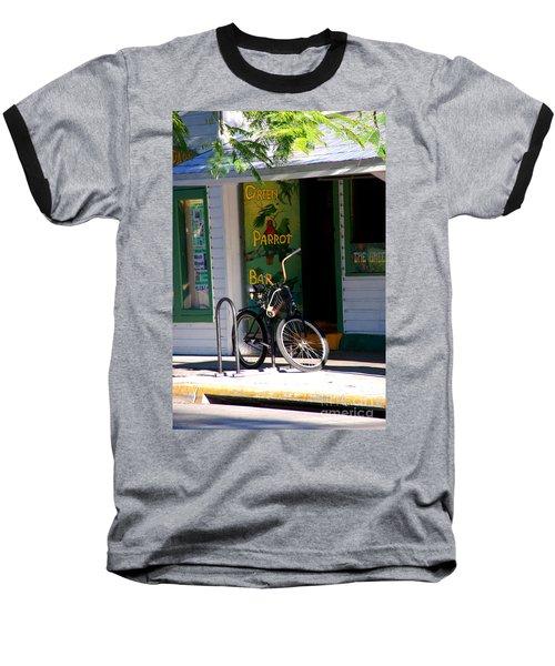 Green Parrot Bar Key West Baseball T-Shirt