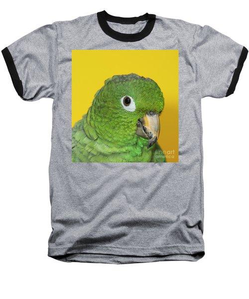Green Parrot Head Shot Baseball T-Shirt