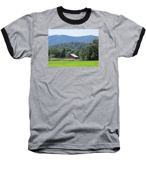 Mountain Barn Retreat Baseball T-Shirt