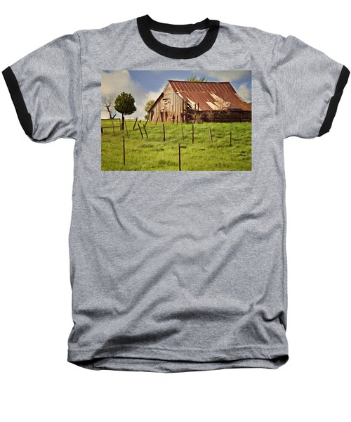 Baseball T-Shirt featuring the photograph Green Pastures by Lana Trussell