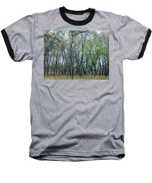 Green Pushing Out Baseball T-Shirt