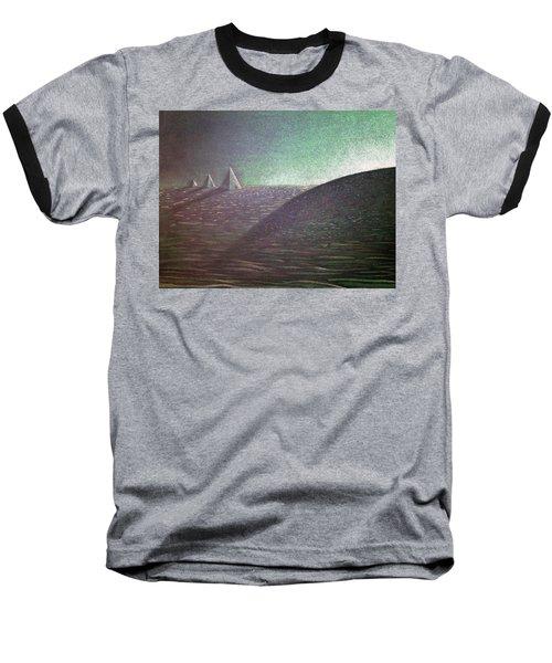 Baseball T-Shirt featuring the drawing Green Pyramid B by Mayhem Mediums