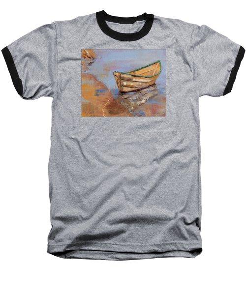 Green Rim Baseball T-Shirt by Trina Teele
