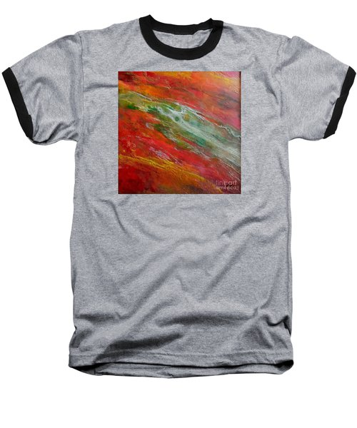 Baseball T-Shirt featuring the painting Green River by Dragica  Micki Fortuna
