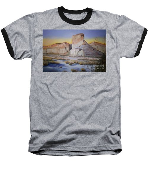 Green River Wyoming Baseball T-Shirt by Marlene Book