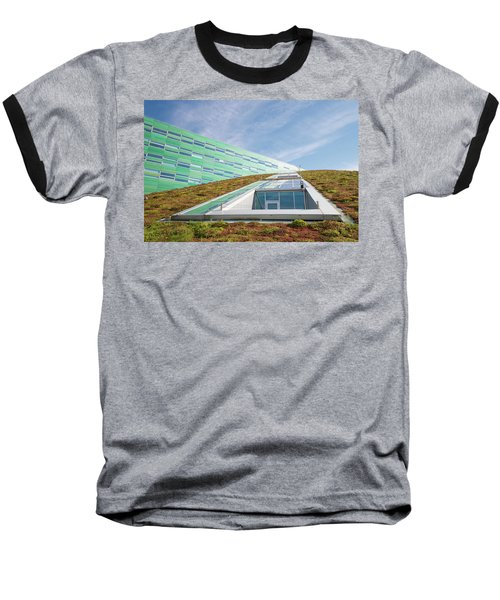 Green Roof Baseball T-Shirt by Hans Engbers
