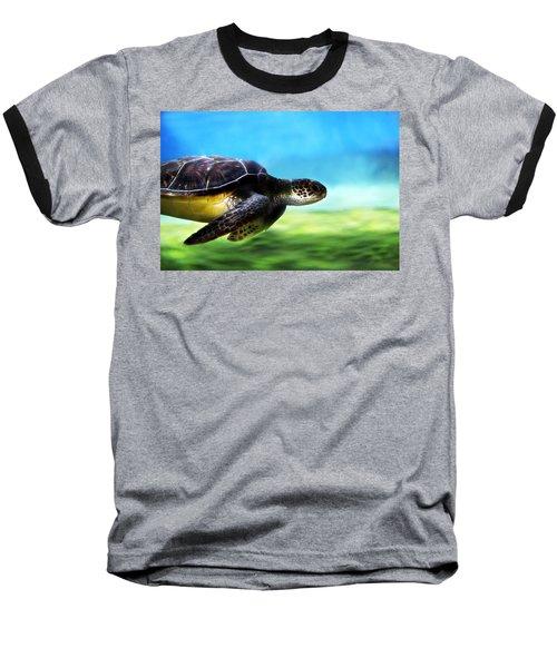 Green Sea Turtle 2 Baseball T-Shirt