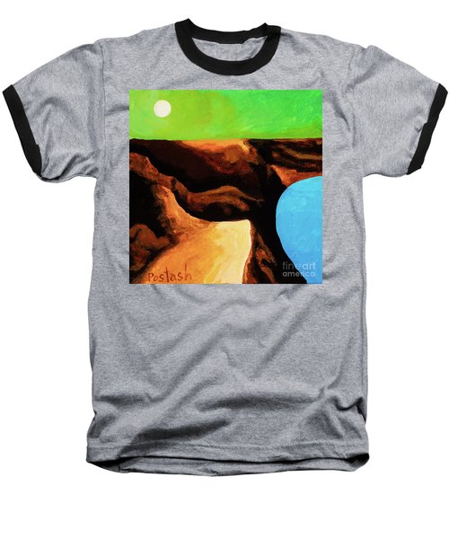 Green Skies Baseball T-Shirt by Igor Postash