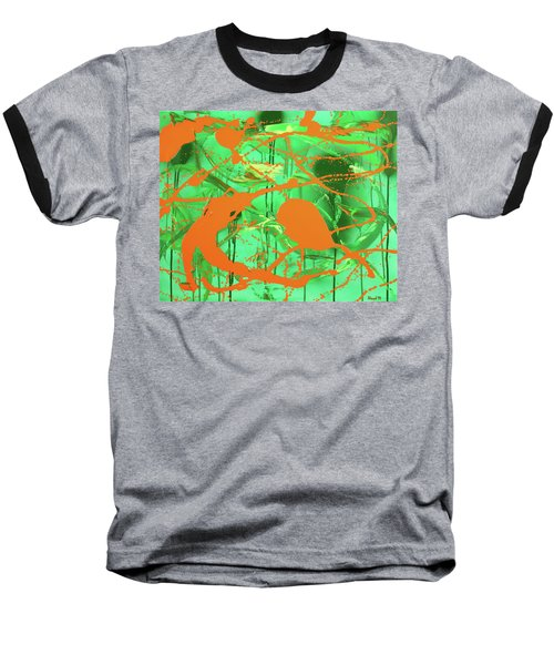 Green Spill Baseball T-Shirt