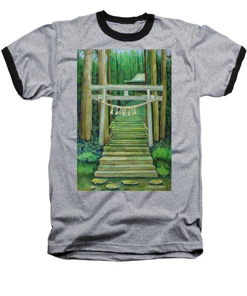 Green Stairway Baseball T-Shirt
