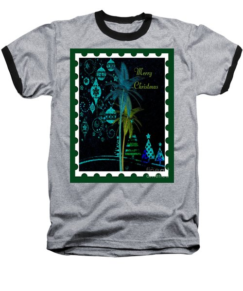 Baseball T-Shirt featuring the digital art Green Stamp by Megan Dirsa-DuBois