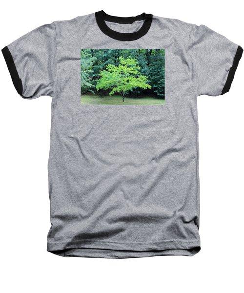 Green Standout Tree Baseball T-Shirt