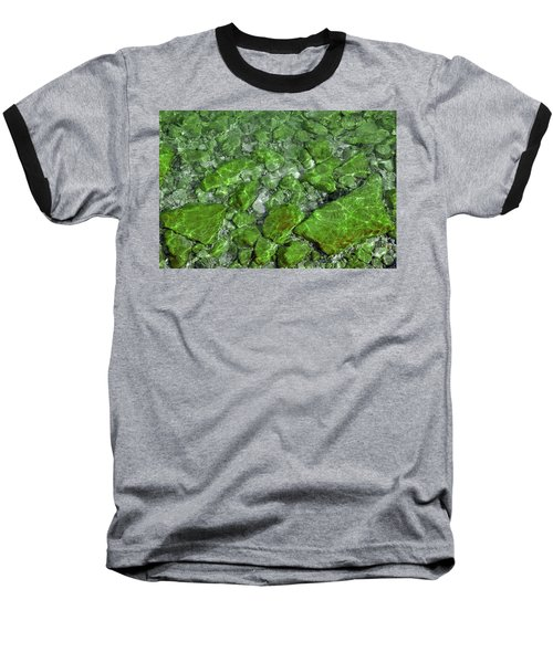 Baseball T-Shirt featuring the photograph Green Stone Waters by LeeAnn McLaneGoetz McLaneGoetzStudioLLCcom