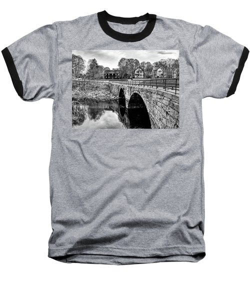 Green Street Bridge In Black And White Baseball T-Shirt