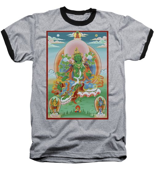 Green Tara With Retinue Baseball T-Shirt