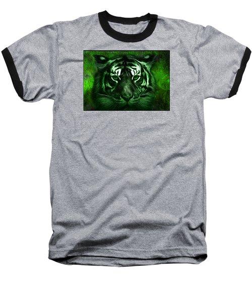 Green Tiger Baseball T-Shirt