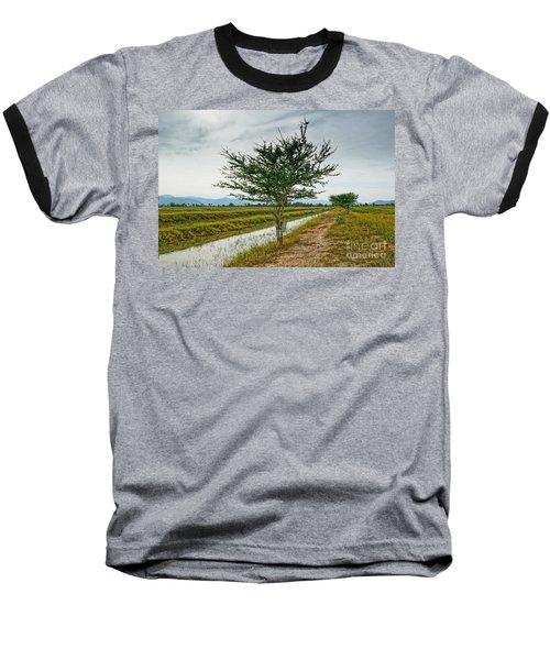 Baseball T-Shirt featuring the photograph Green Tree by Arik S Mintorogo
