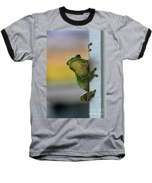 Green Tree Frog  It's Not Easy Being Green Baseball T-Shirt