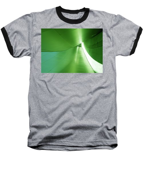 Baseball T-Shirt featuring the photograph Green Tunnel. Los Angeles Series. by Ausra Huntington nee Paulauskaite
