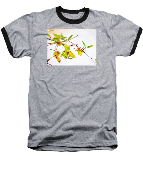 Green Twigs And Leaves Baseball T-Shirt