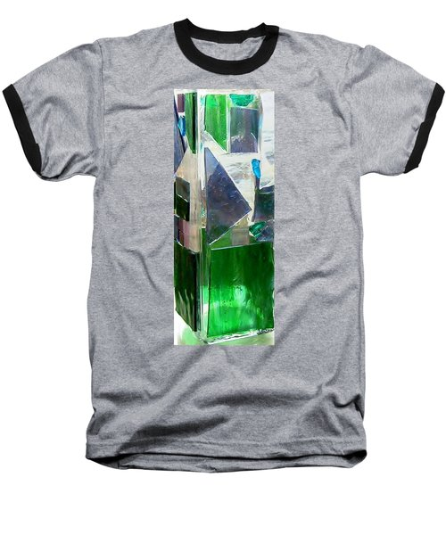 Baseball T-Shirt featuring the glass art Green Vase by Jamie Frier