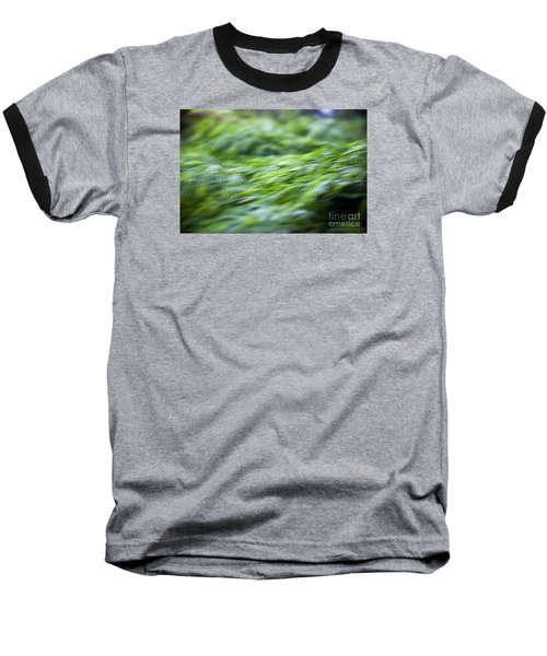 Green Waterfall 1 Baseball T-Shirt by Serene Maisey