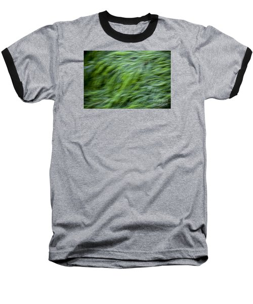 Green Waterfall 2 Baseball T-Shirt by Serene Maisey