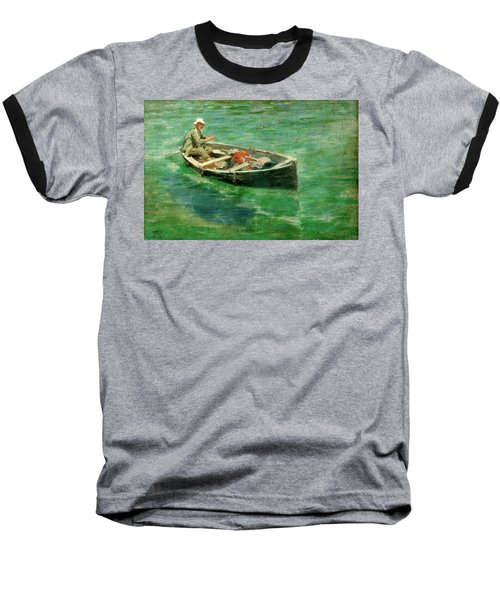 Baseball T-Shirt featuring the painting Green Waters by Henry Scott Tuke
