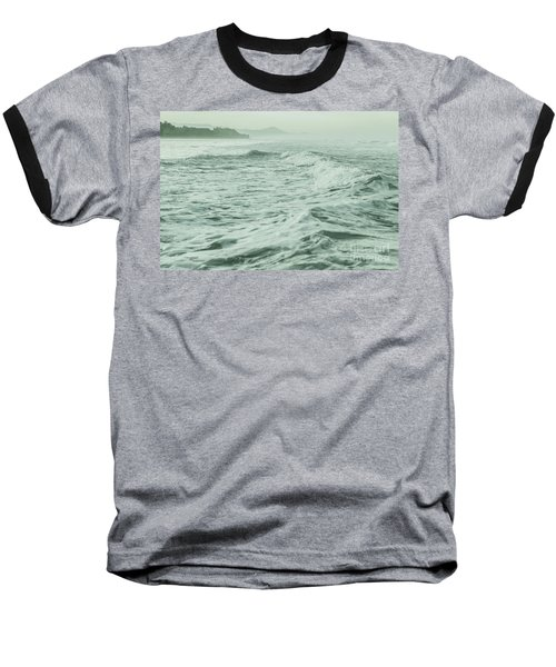 Green Waves Baseball T-Shirt by Iris Greenwell