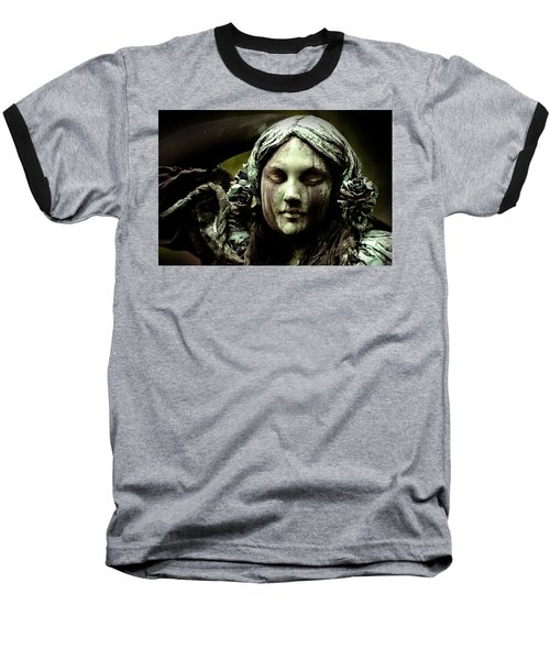 Green Woman A Portrait Baseball T-Shirt