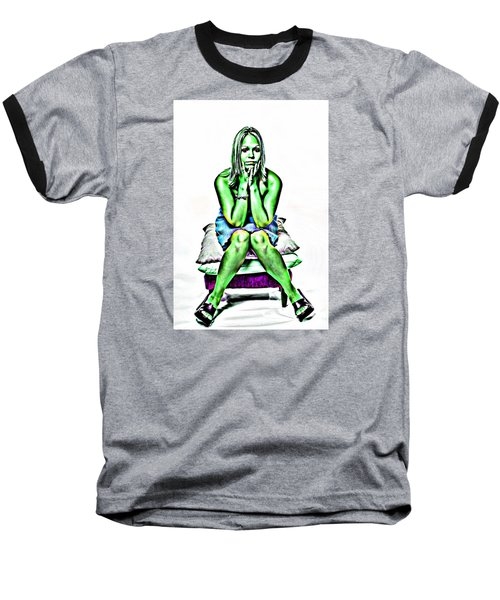 Baseball T-Shirt featuring the photograph Green Woman by Bob Pardue