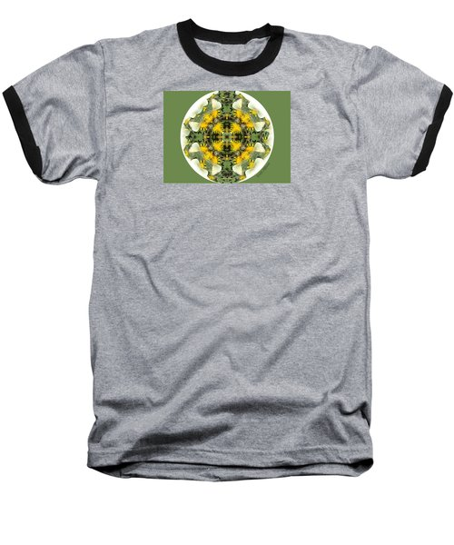 Green Yellow Kaleidoscope Baseball T-Shirt