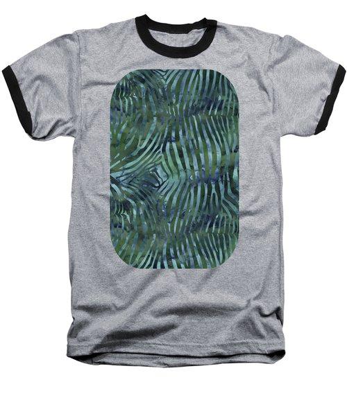 Green Zebra Print Baseball T-Shirt