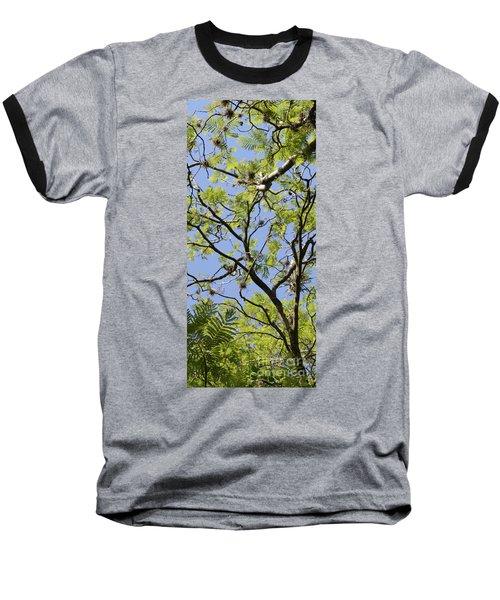 Greenery Center Panel Baseball T-Shirt