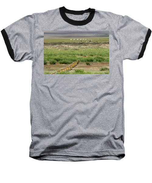 Baseball T-Shirt featuring the photograph Greenery In Desert, Gobi, 2016 by Hitendra SINKAR