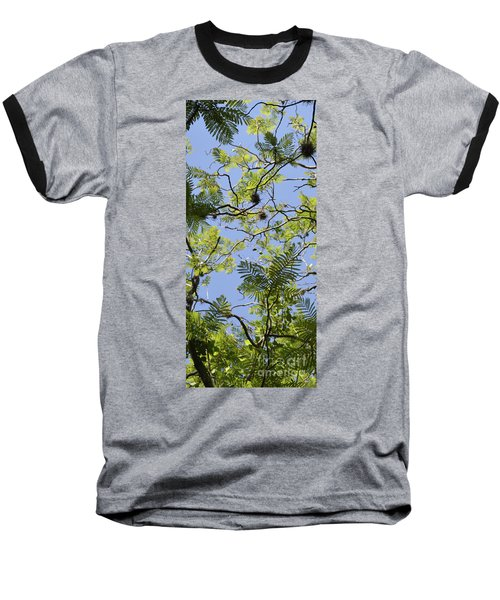 Greenery Left Panel Baseball T-Shirt
