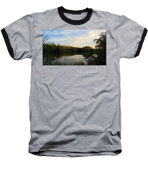 Baseball T-Shirt featuring the photograph Greenfield Pond by Kimberly Mackowski