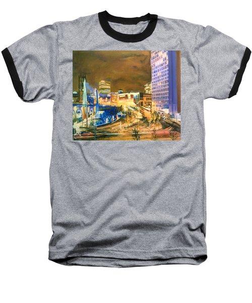 Greengate, Salford, Manchester At Night Baseball T-Shirt
