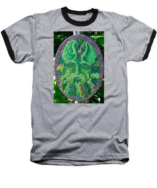 Greenman 3 Baseball T-Shirt by Megan Walsh