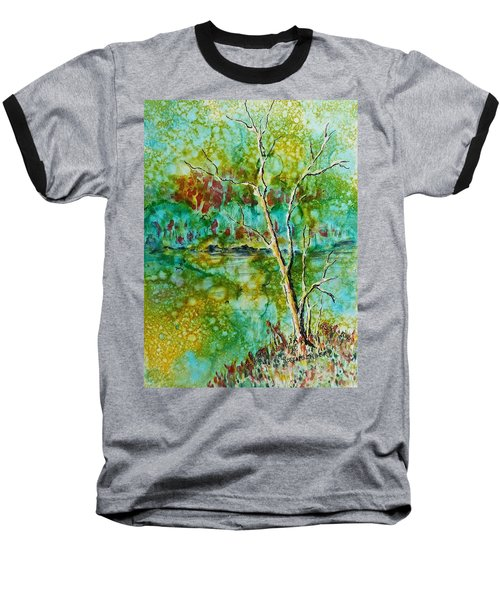 Baseball T-Shirt featuring the painting Greens Of Late Summer by Carolyn Rosenberger