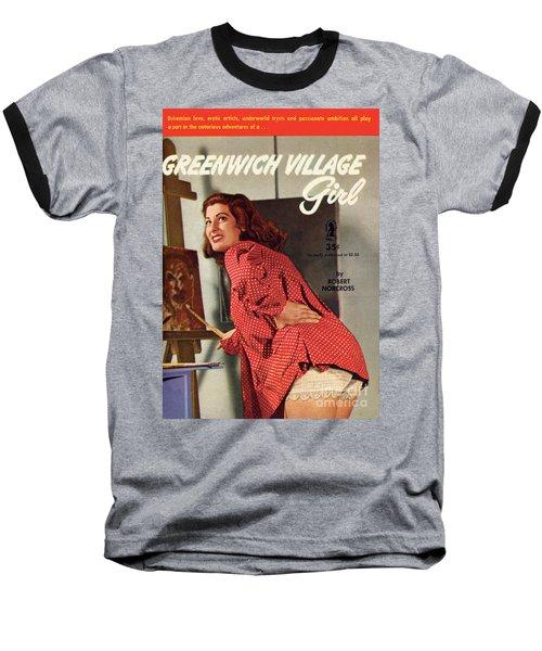 Greenwich Village Girl Baseball T-Shirt