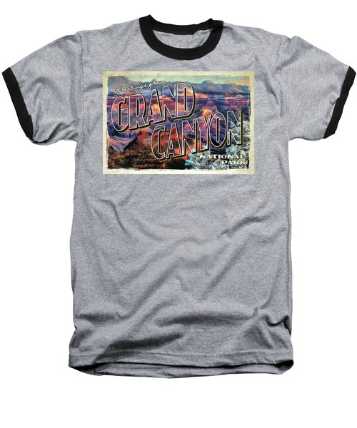 Baseball T-Shirt featuring the painting Greetings From Grand Canyon National Park by Christopher Arndt