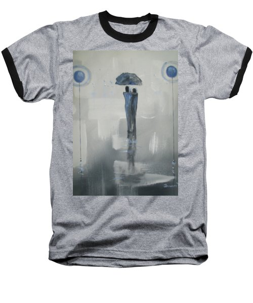 Baseball T-Shirt featuring the painting Grey Day Romance by Raymond Doward