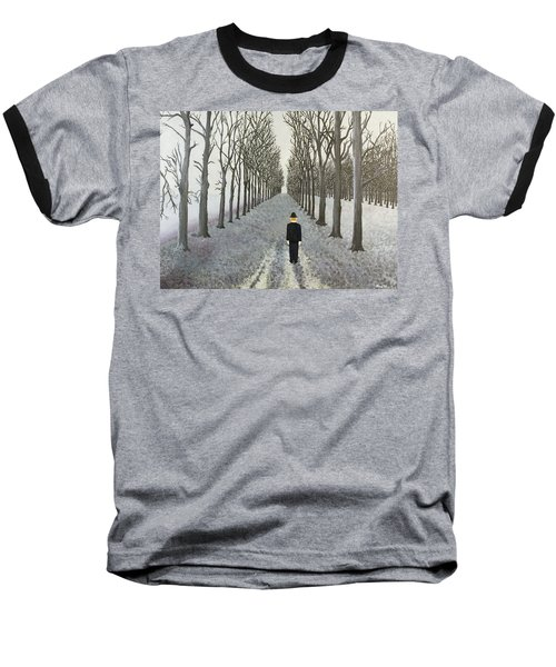 Baseball T-Shirt featuring the painting Grey Day by Thomas Blood